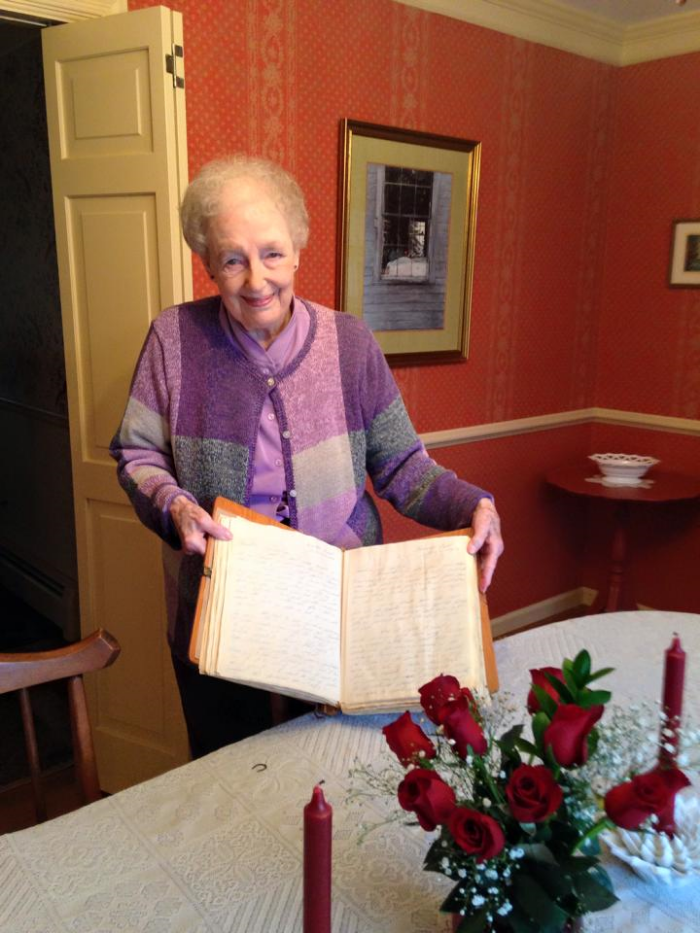 grandma with her letters
