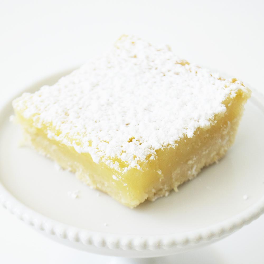 Lemon Square - Shortbread crust with tangy lemon filling.