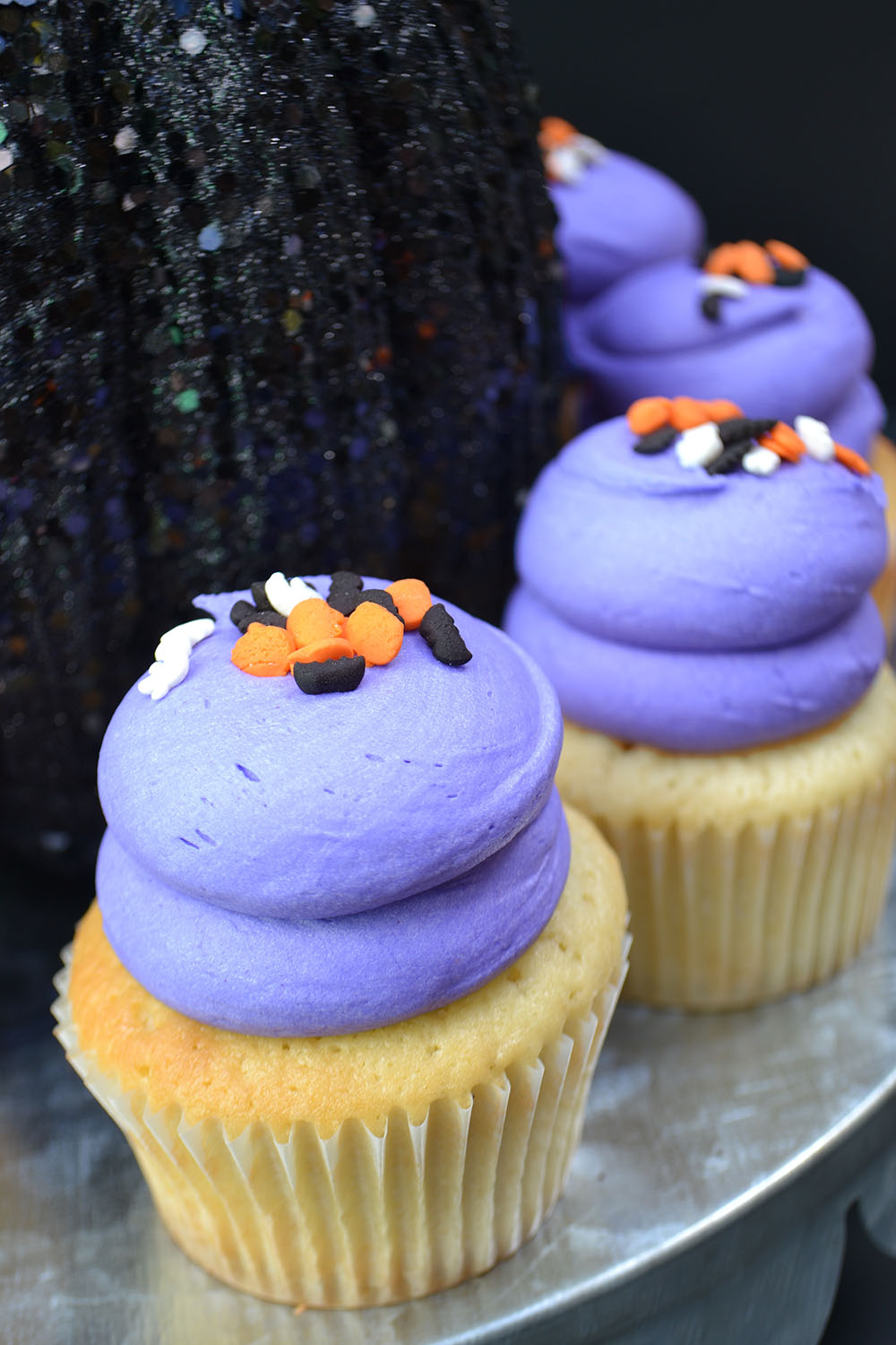 Large Vanilla Cupcake with Halloween Sprinkles $3.50