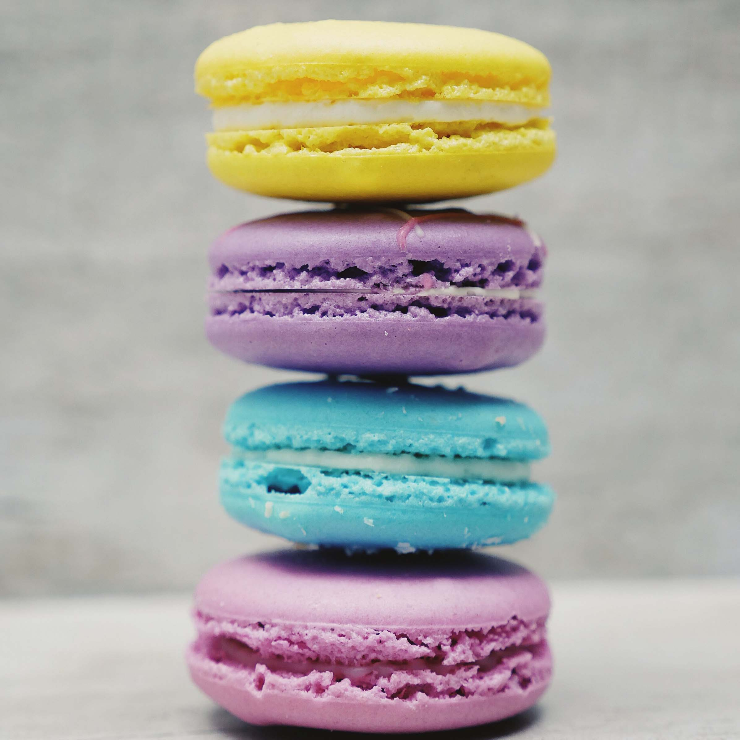 Macarons:  $2.50 Ea, 6 for $14.40, 12 for $28