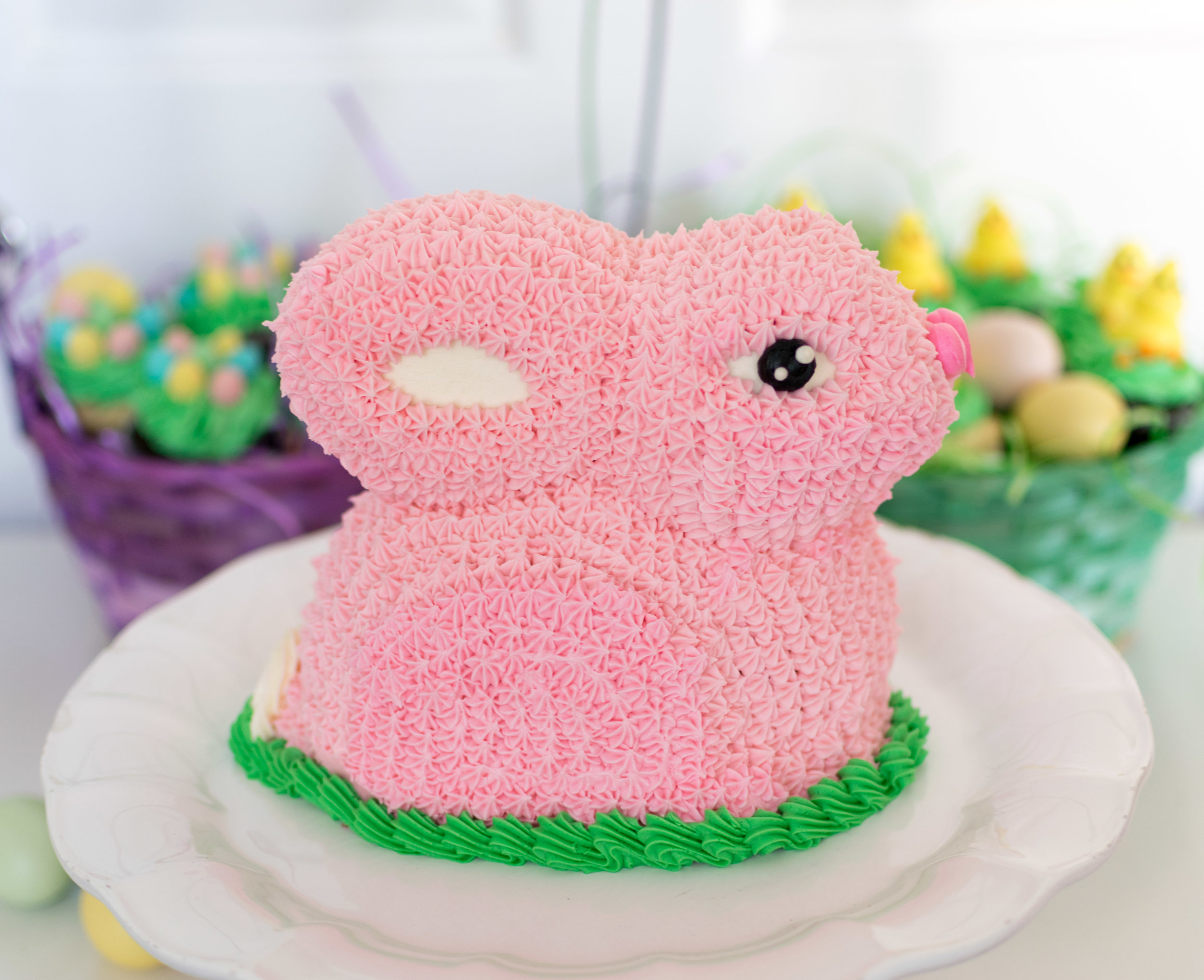 Bunny Cake : Chocolate cake in your choice of colour - $55