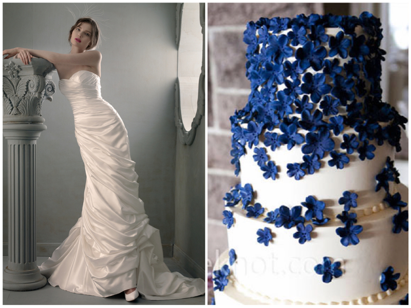 Dress:  St. Pucchi 720 . Cake via  The Knot .