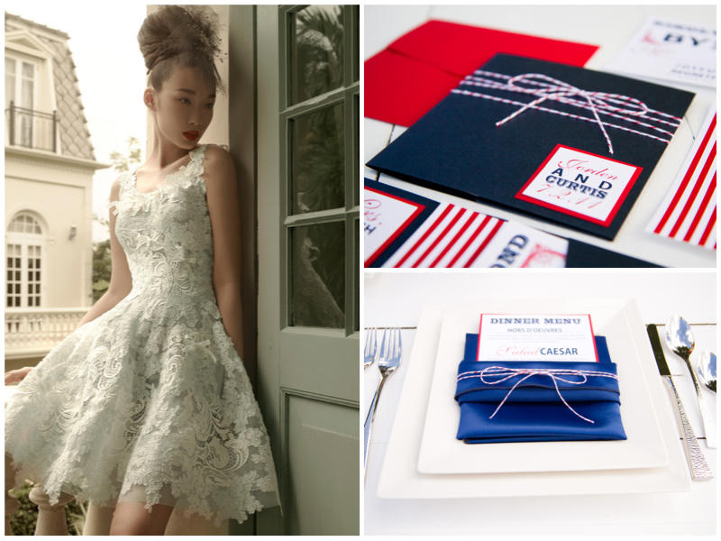 Dress: St. Pucchi 17 Dorothy. Paper Goods:  Pink Piggy Design  via  Oh So Beautiful Paper.