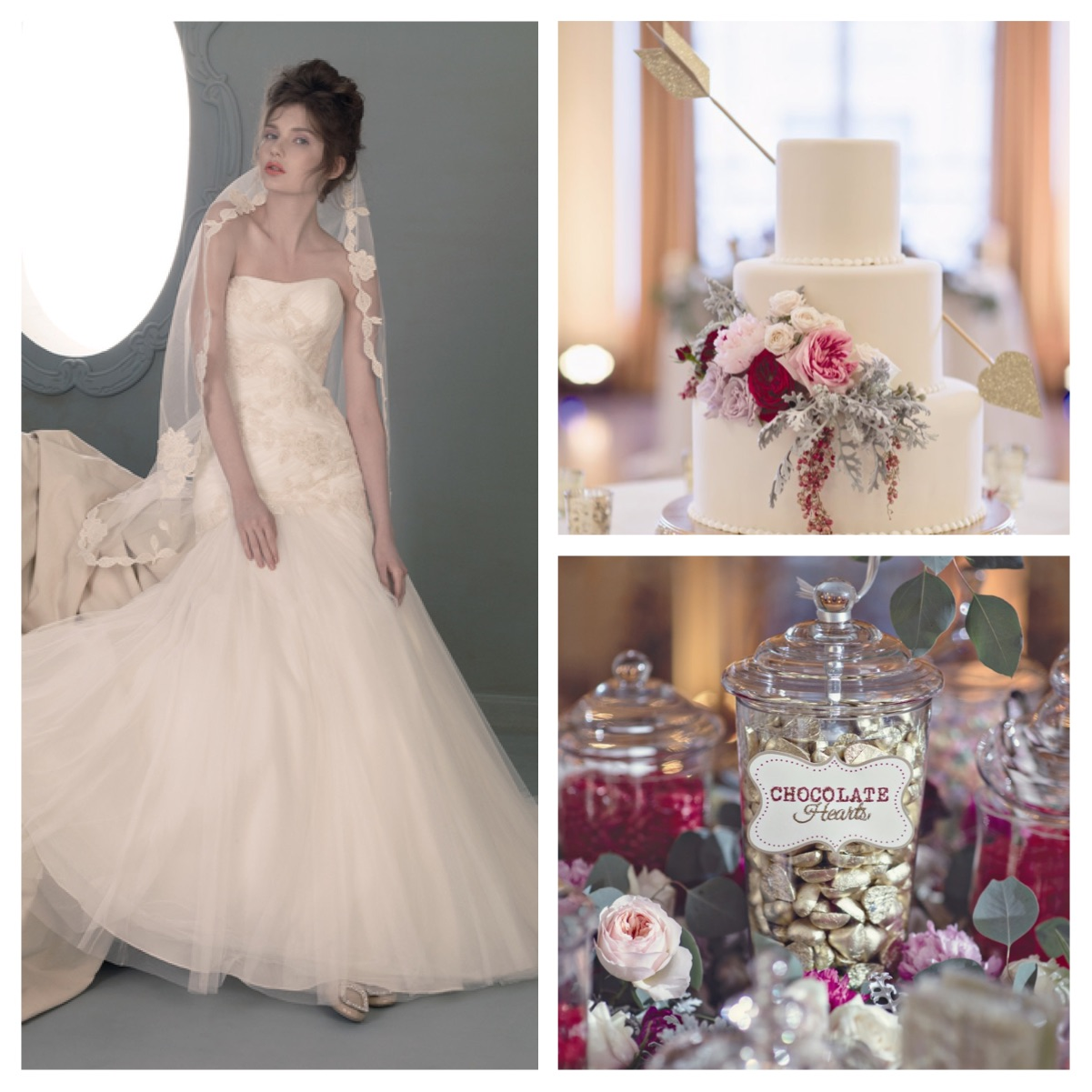 Dress:  St. Pucchi 708 ,  Cake and Chocolate Hearts
