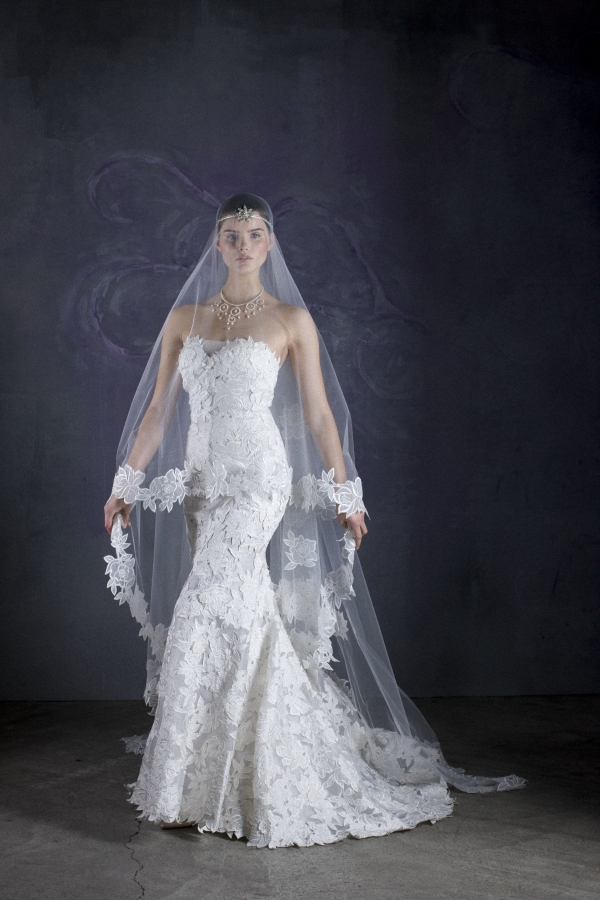 Avine Perucci - Style 506 and Matching Veil