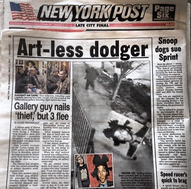 We woke up the day after to find the story in The New York Post.