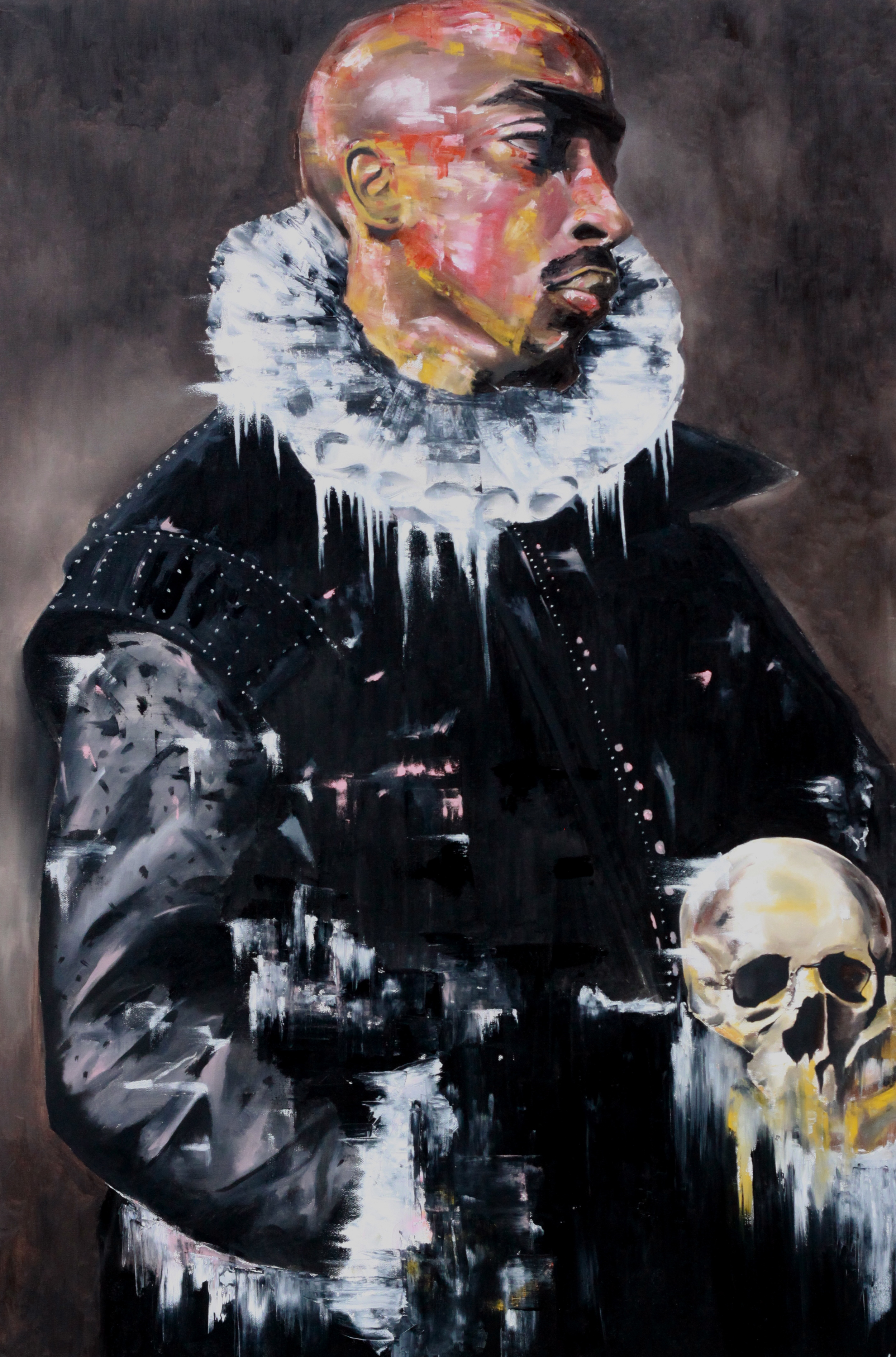 PAC WITH A SKULL
