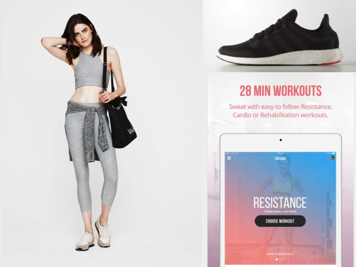 My Motivation Kit:New workout wear from  Outside Voices , sneakers: Adidas Pure Boost 2 ,  Kayla Itsines  Fitness App