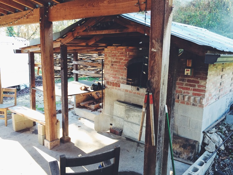 Don't think I haven't already talked to my contractor about installing a wood-fired oven on our deck. I should probably wait until AFTER the workshop to commit. Photo via  Smoke Signals