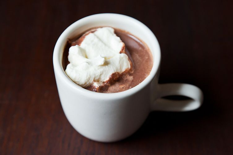 Perfect Hot Chocolate from  Food52   As a kid, when I wanted to partake in coffee with my parents - but they told me it stunted my growth. Not wanting me to feel left out of the hot beverage party,my dad would make me homemade hot cocoa, with milk, sugar, cocoa powder and Laura Scudders natural peanut butter - on the stovetop!Hot Chocolate is sort of a luxury for me, but makes me feel very cared for.