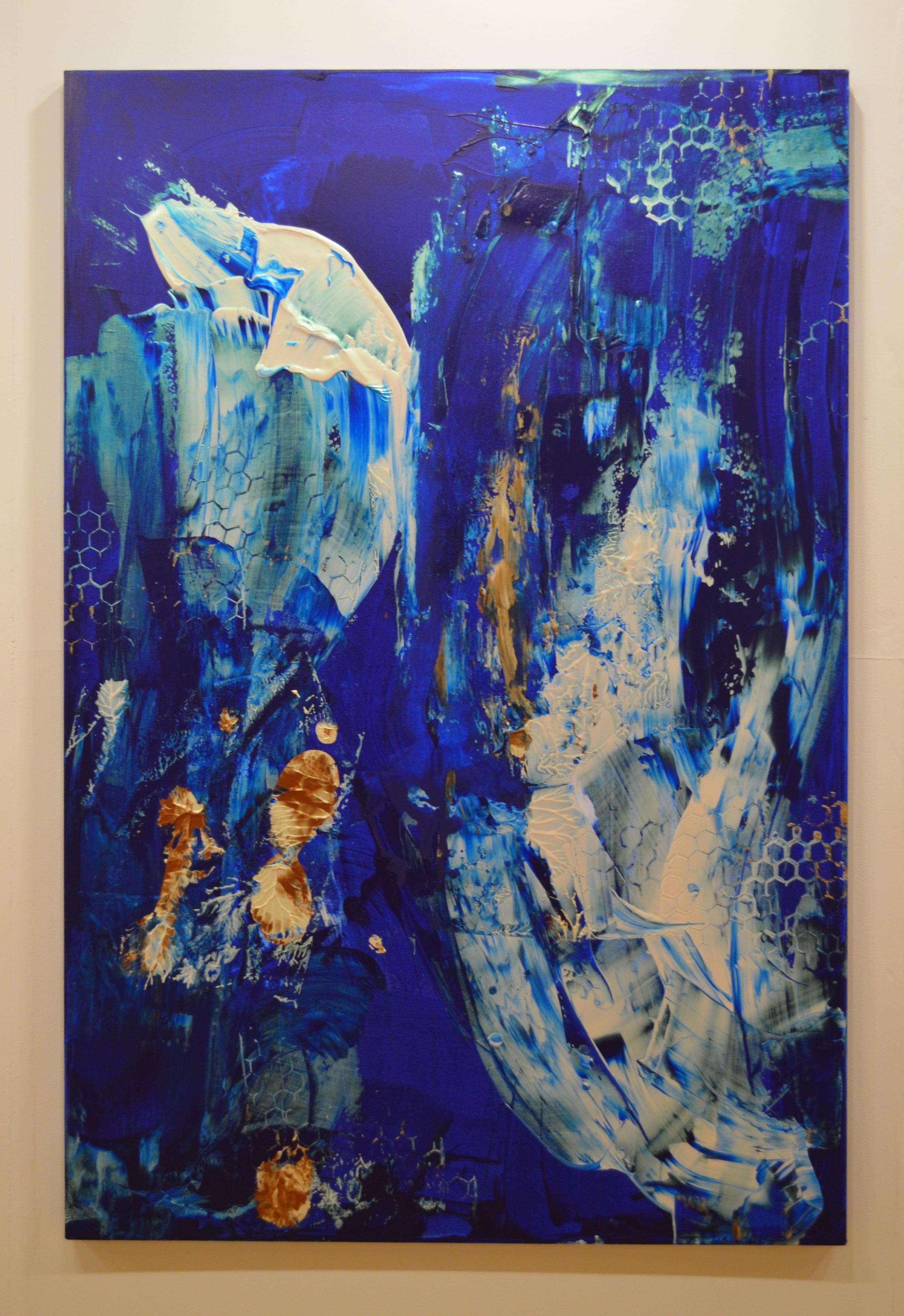 9. Deep Dive, Natasha Shoro, 72 x 48 inches, $6,500