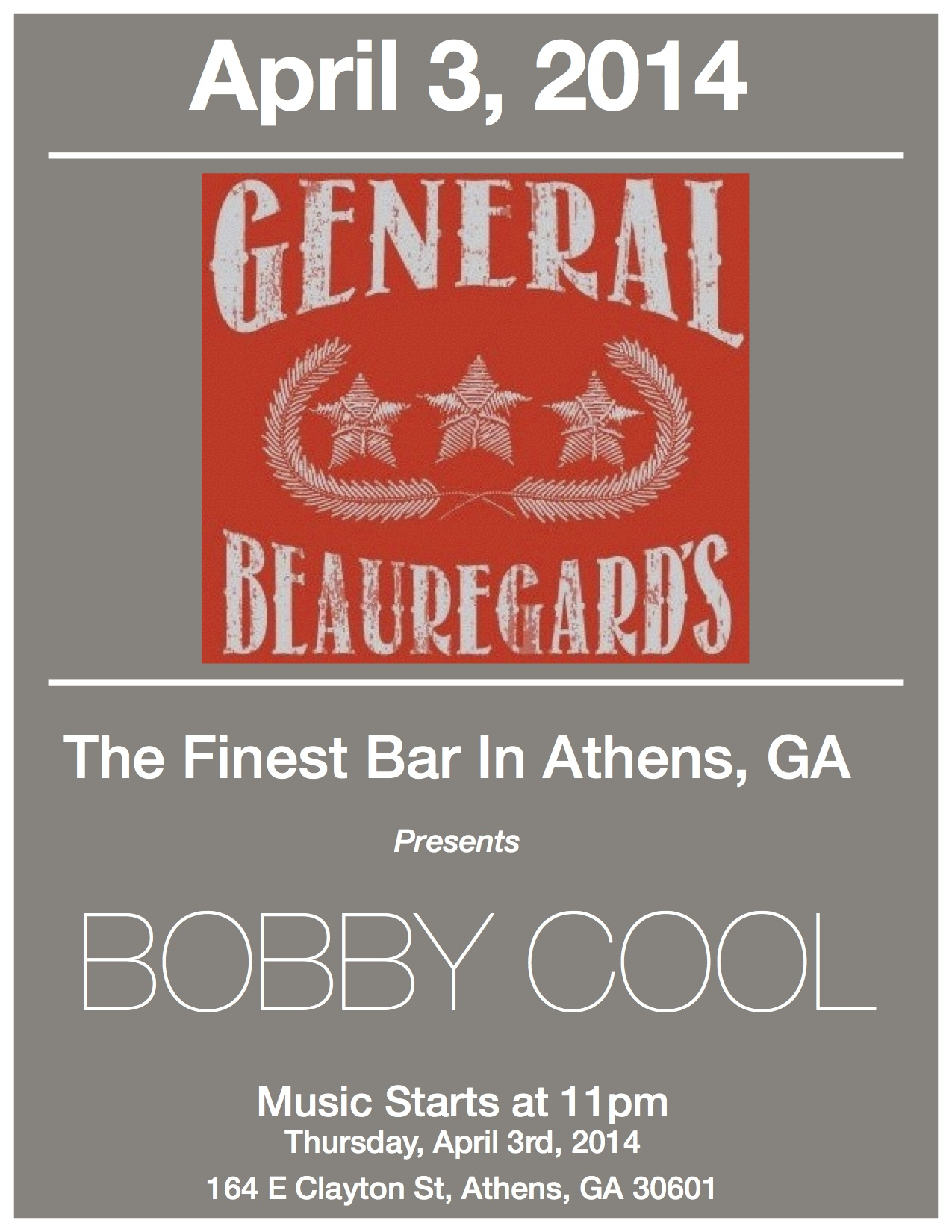 bobby cool generals