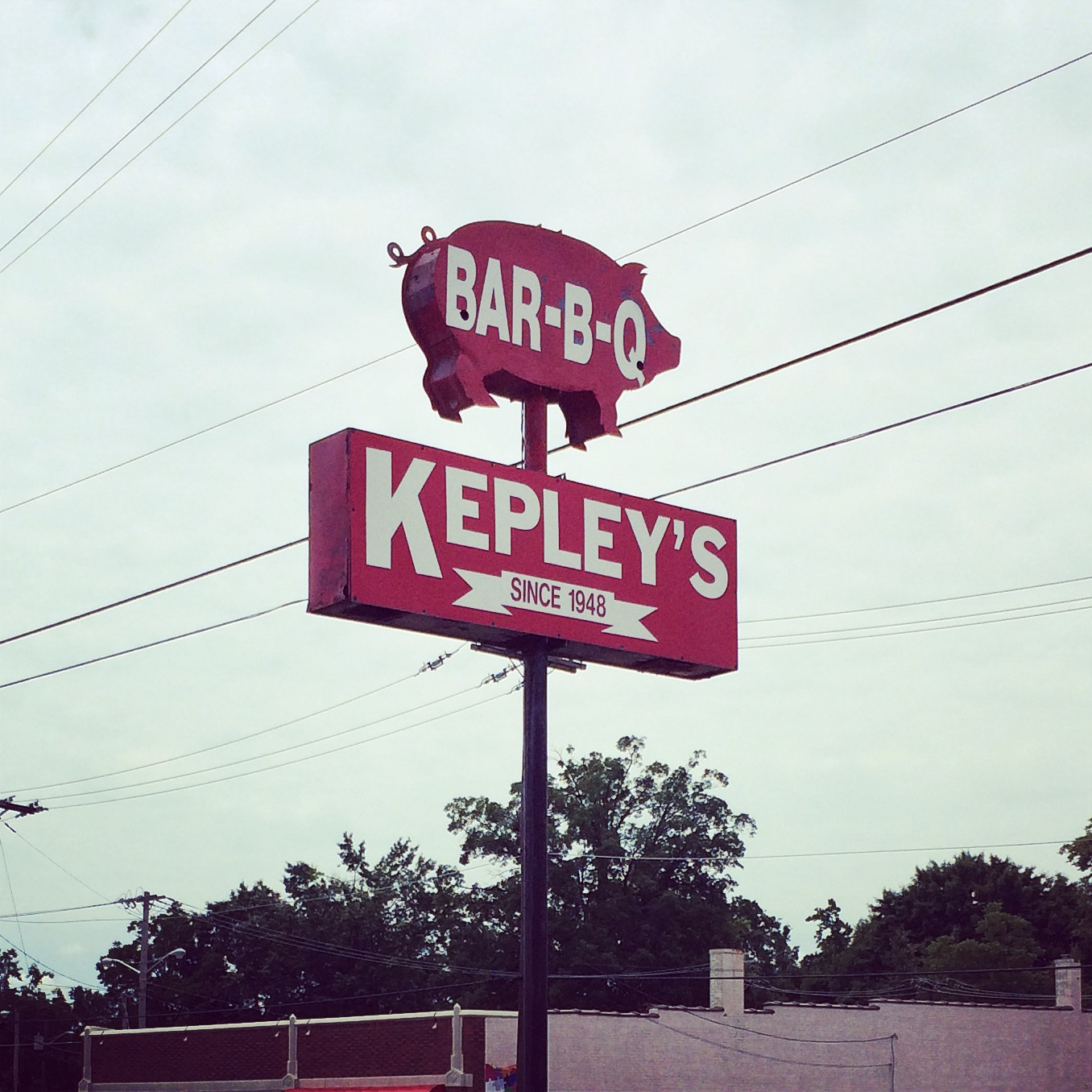I've been eating Kepley's BBQ to-go for 20 years but this was my first visit inside.