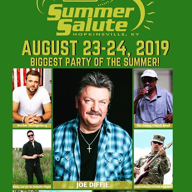 Looking forward to playing the @hoptownsummersalute with @officialjoediffie tomorrow. If you're in #hopkinsvilleky come out and get your #johndeeregreen on
