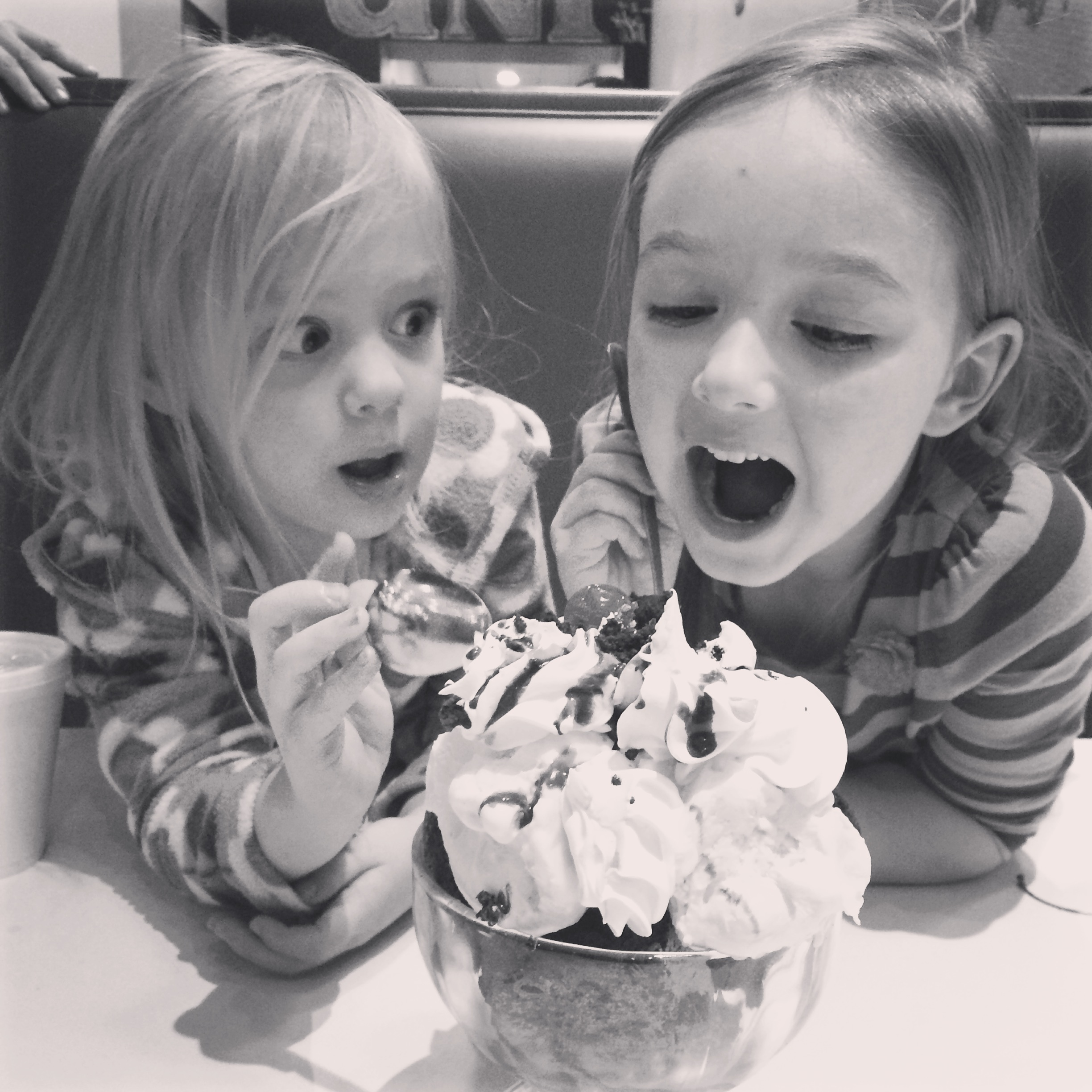 Later we followed our hearts to an ENORMOUS BROWNIE SUNDAE.