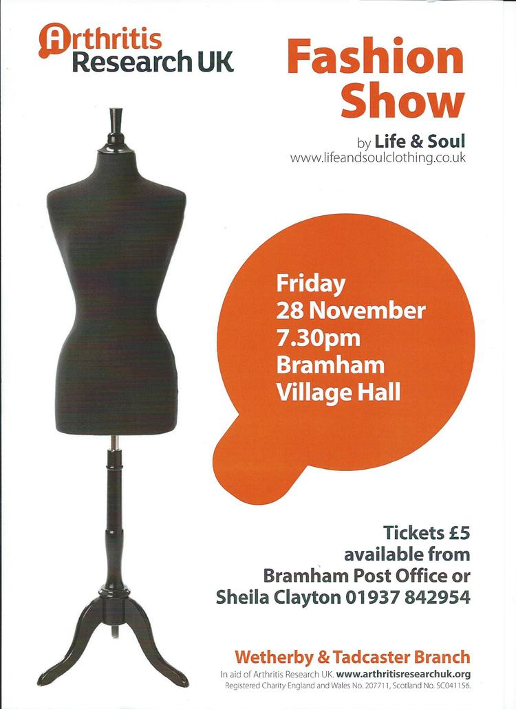 Arthritis Research fundraiser poster for a fashion show