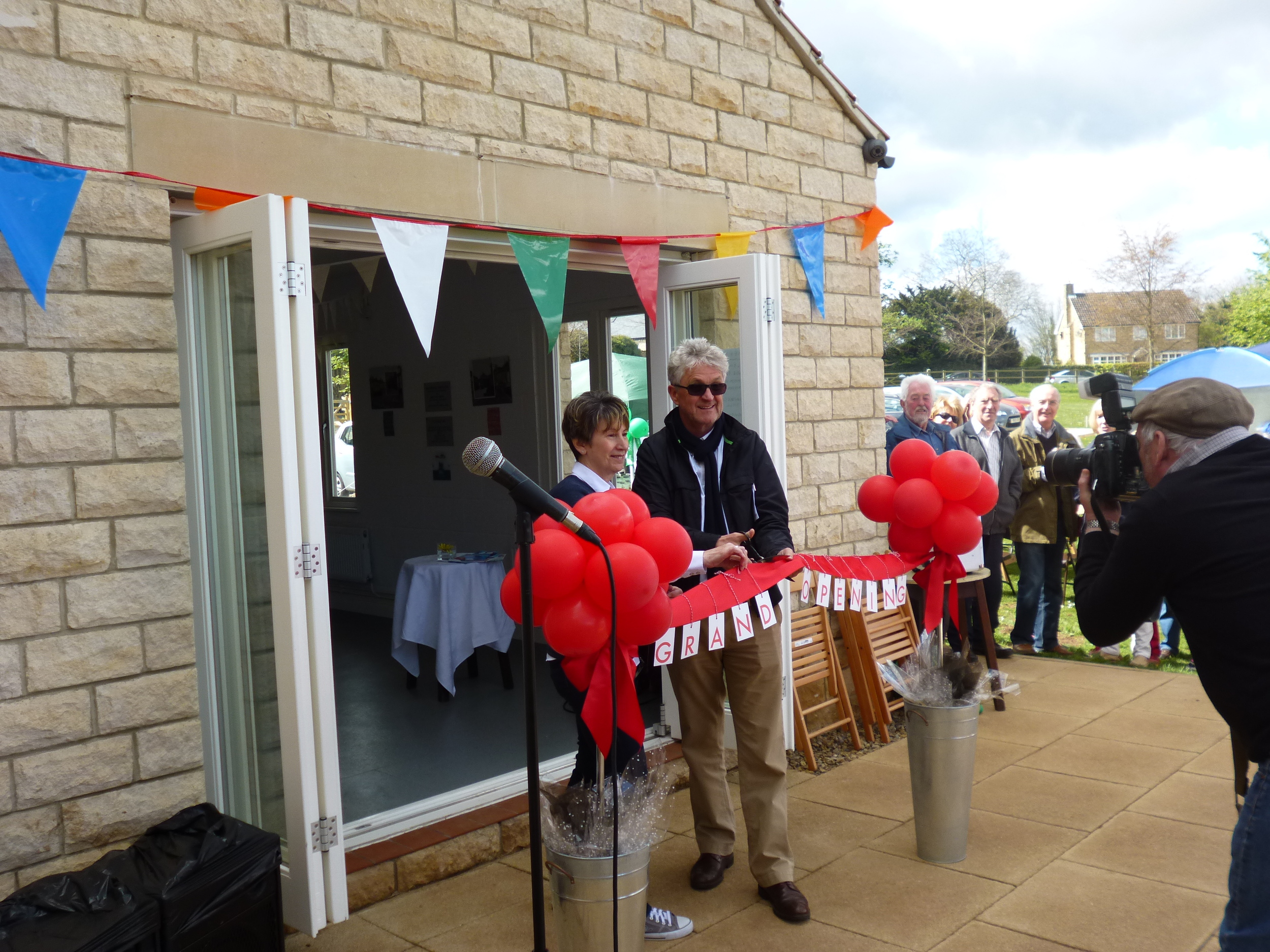 Melvin Benn marking the official opening of the Pavilion in April 2015