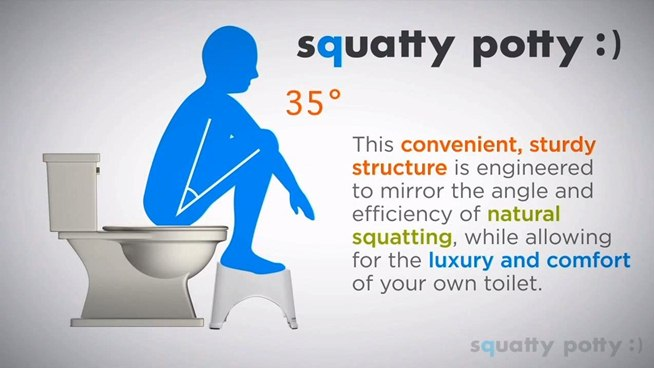 Using the squatty potty is pure poop bliss. There is nothing like it.