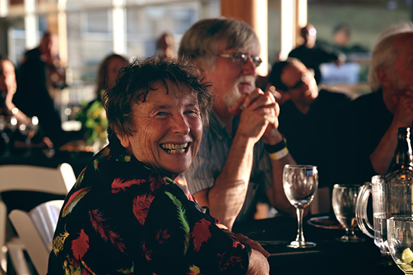 Maureen Fraser with Mark Hobson