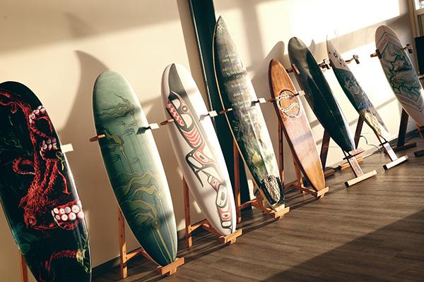 Final Sunset on Tofino Boardwalk Boards