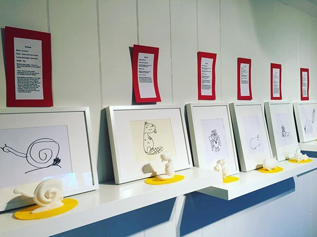 "Congratulations to all the artists in ""Imagination  comes to life!"" On now at Ultramarine Art Supply And a BIG thank you to Michael Darling @darlingmanufacturing for making it real! #tofinoartshow #3dprinting #kidsart #ultramarineartsupply #artcollaboration"