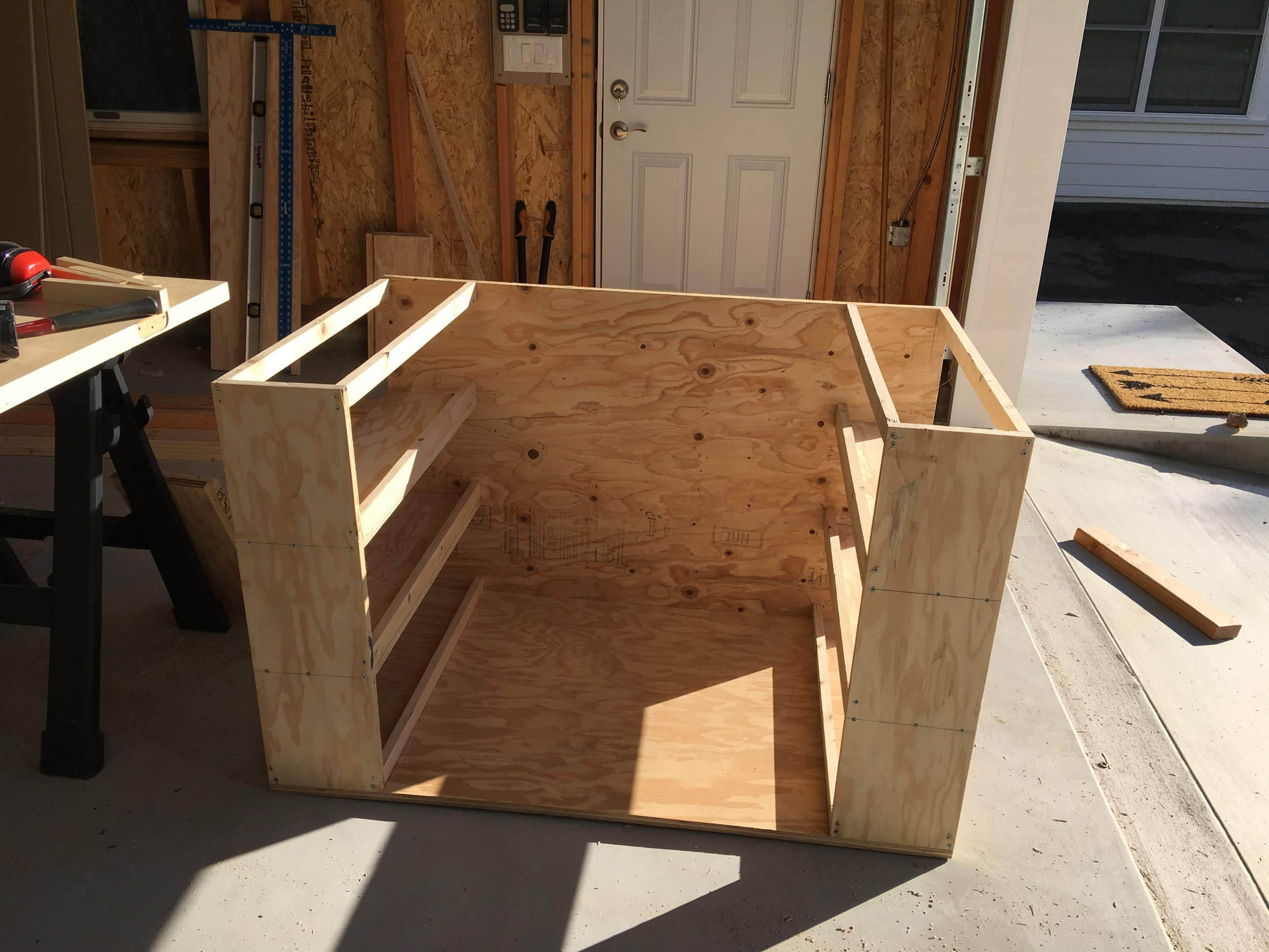 """Frame made of 3/4"""" ply and 1x2's"""