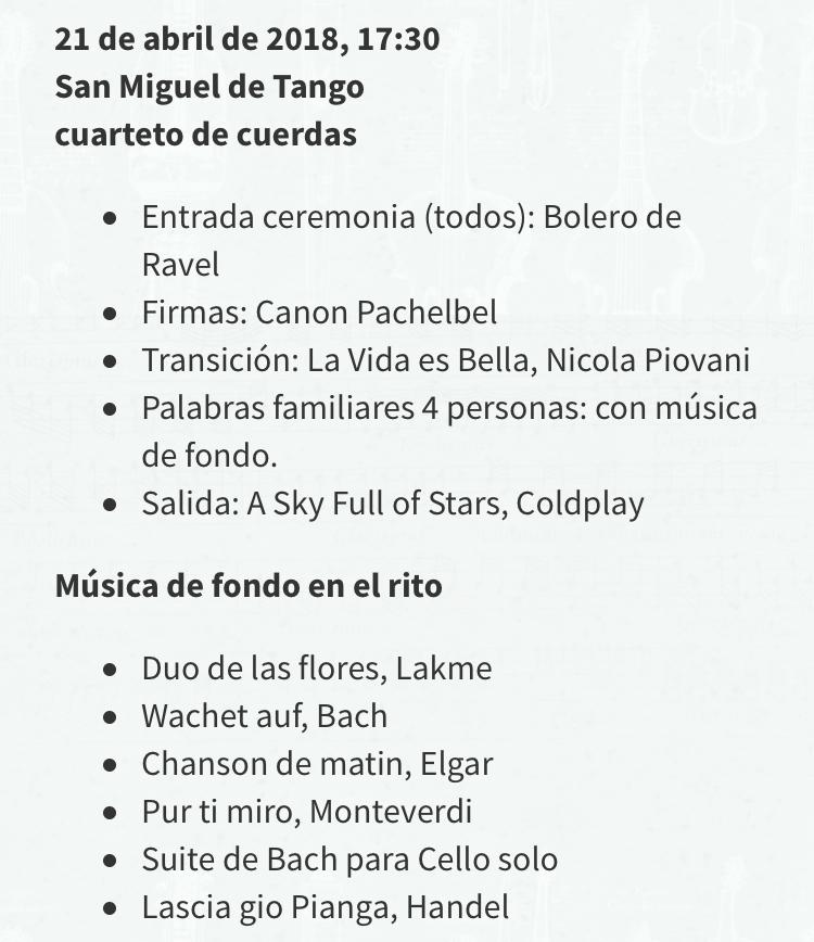 Repertorio musica ceremonia matrimonio aire libre civil simbólica chile