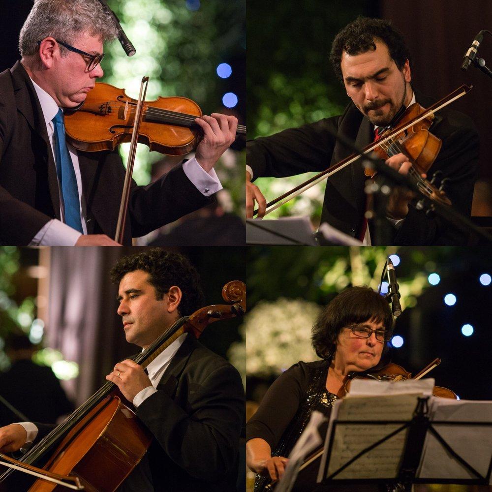 Cuarteto de cuerdas clásico para eventos matrimonios coctel cena recepción chile santiago musicos