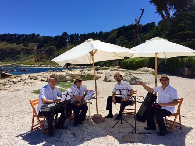 Cuarteto de cuerdas en la playa el tebo musicos para eventos agez chile
