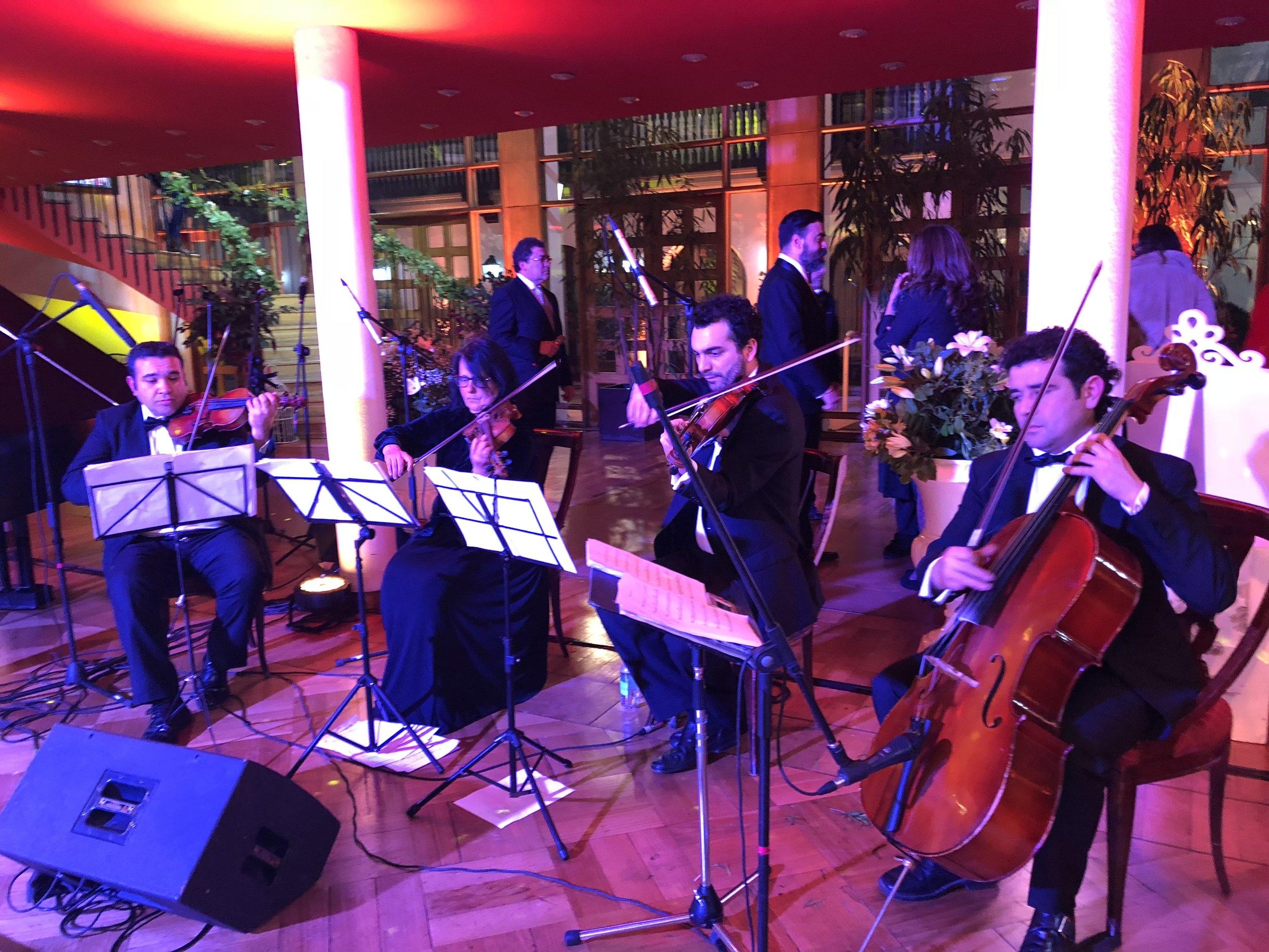 Cuarteto de cuerdas Músicos para eventos Agez Chile