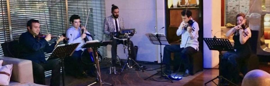 Cuarteto de cuerdas eléctrico Electroclásicos Músicos para eventos Chile