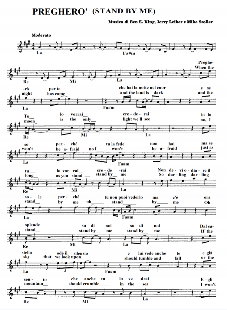 Sheet Music download free partitura Stand by Me