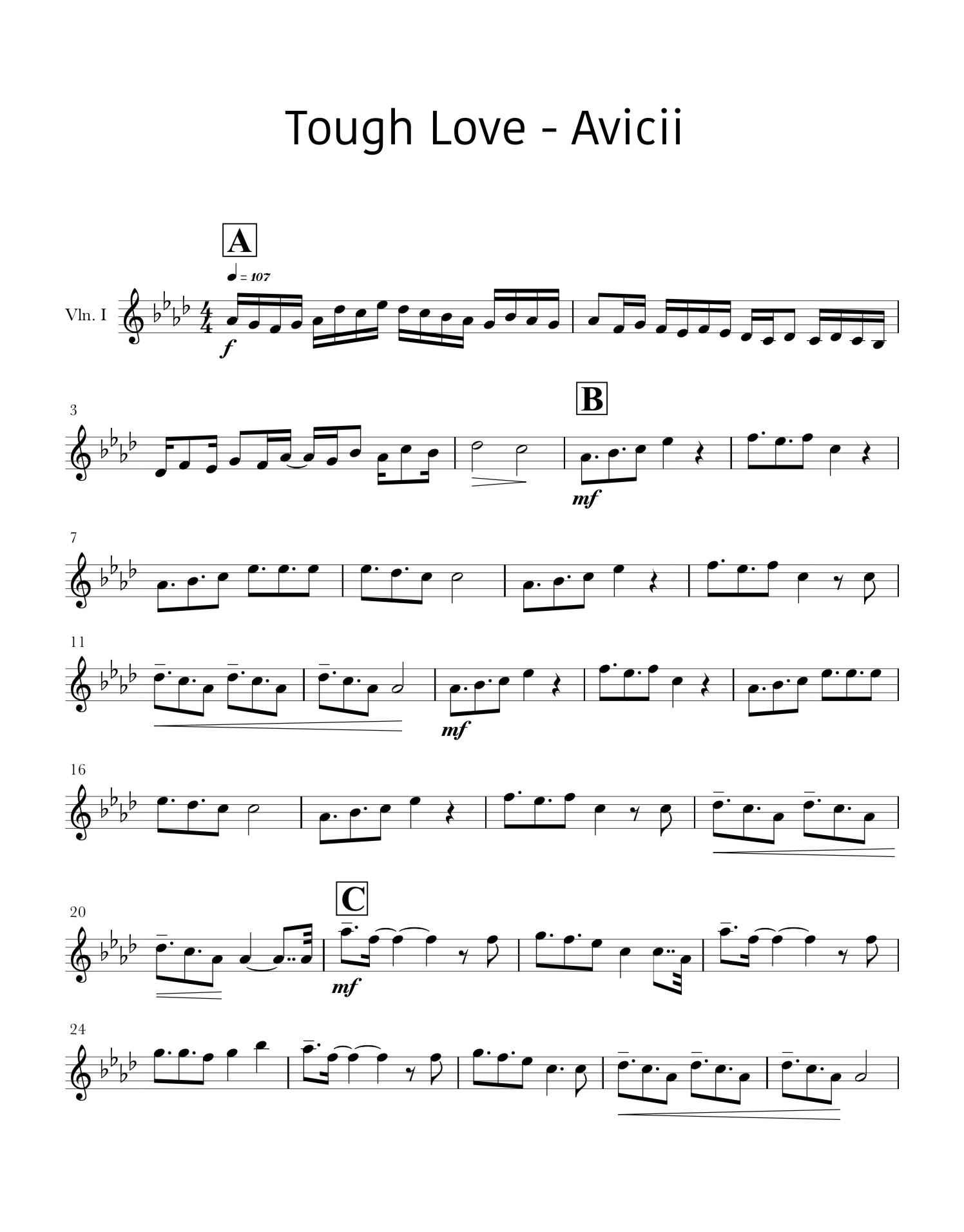 Sheet music free gratis Avicii