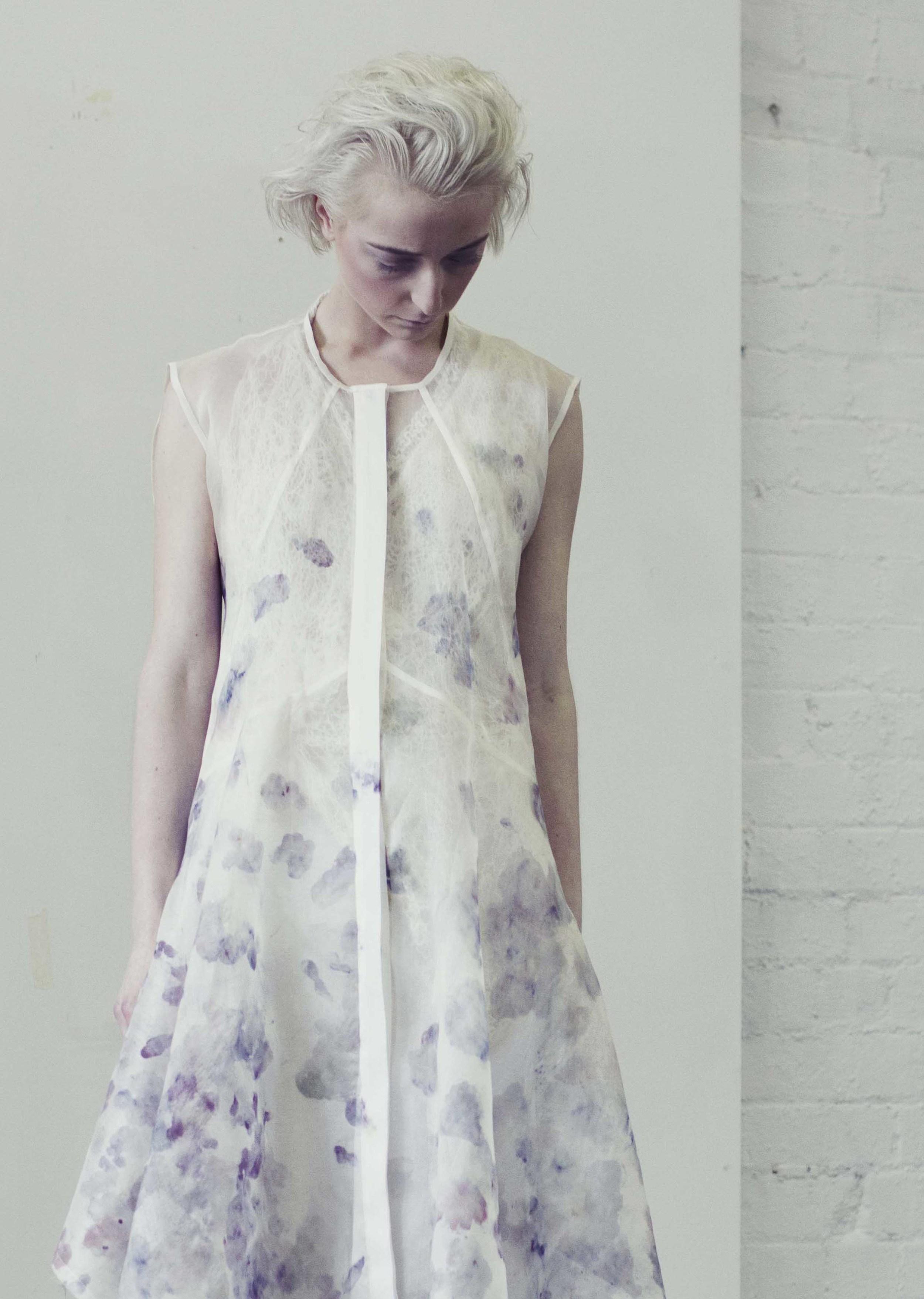 Stamped Florals Shirt Dress