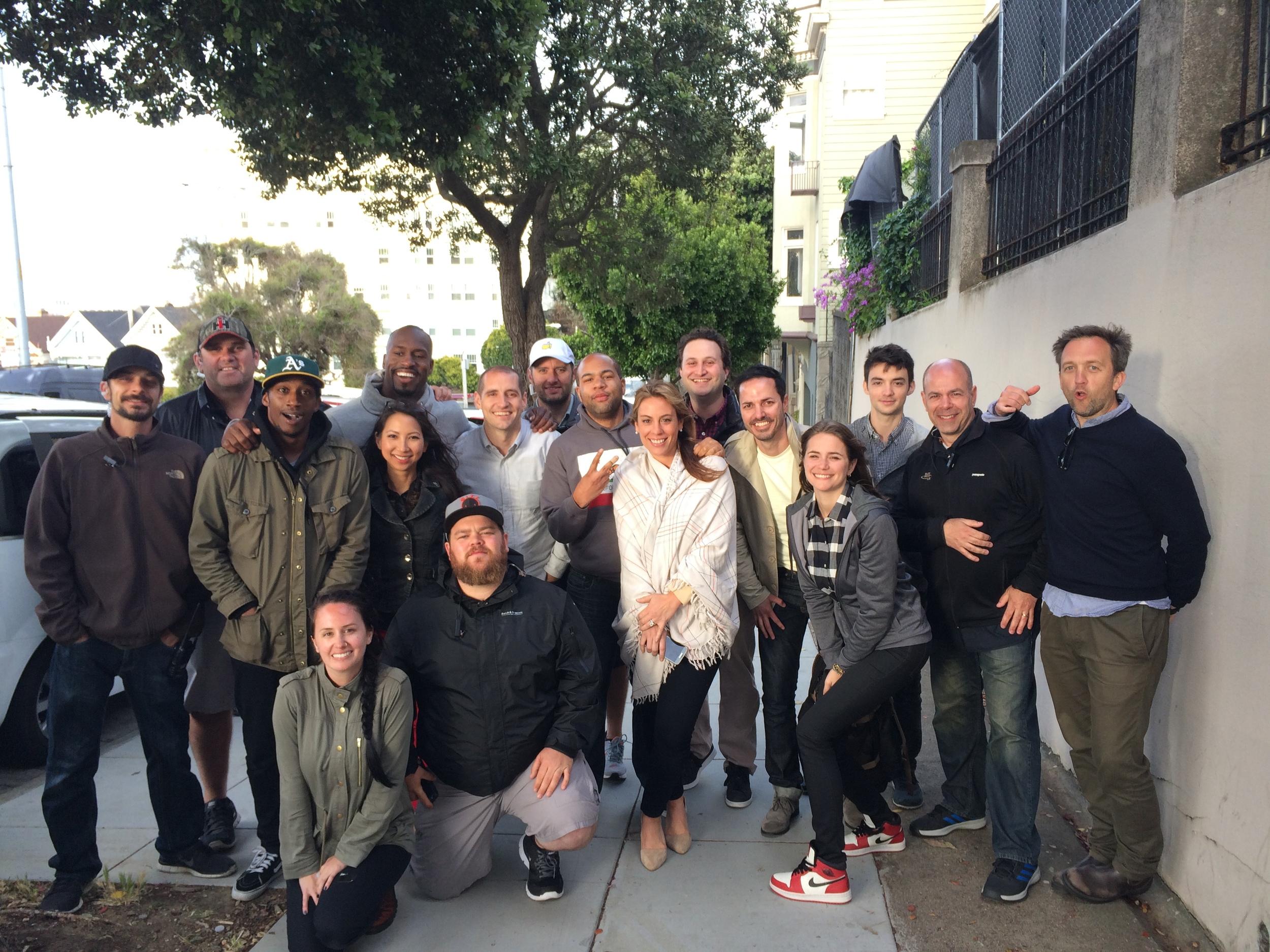 Photo with the crew.