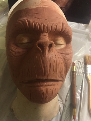 Sculpting the details! This was my first time really sculpting something and using proper tools!