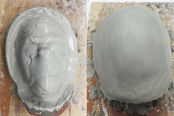 After the clay sculpture was finished I casted the monkey sculpture with cement.