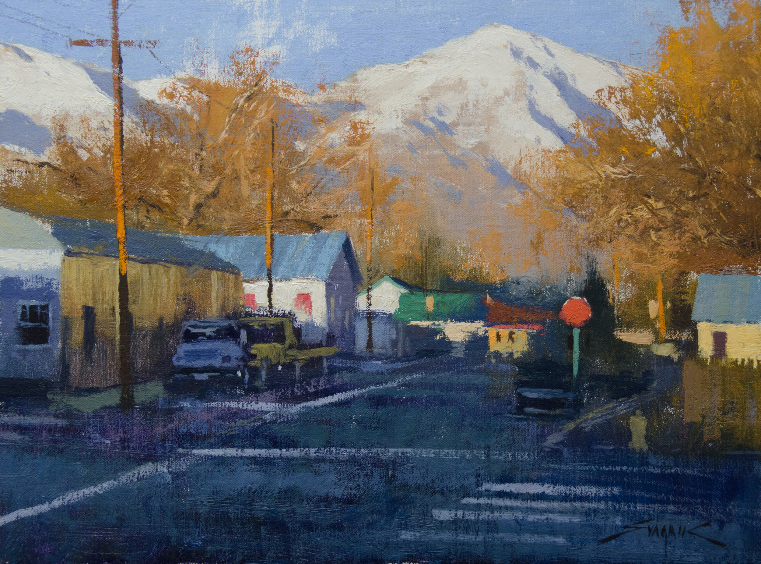 Near the Sierra Mountains 12x16 oil $3200