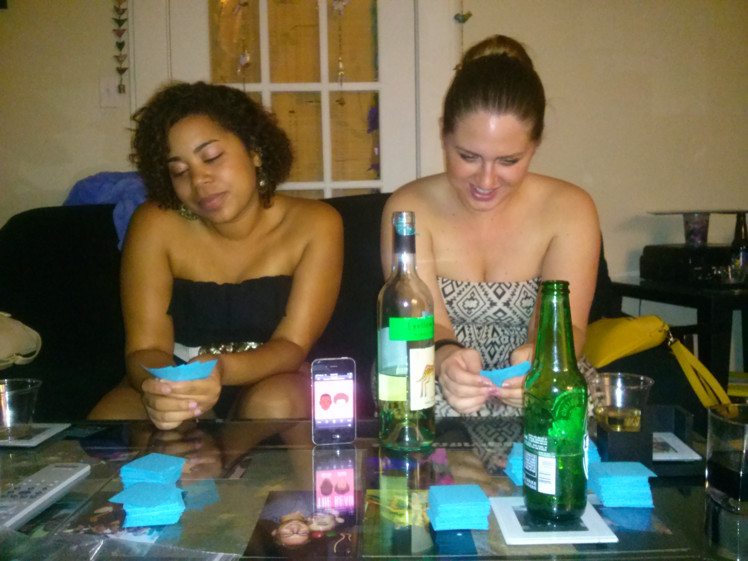 Casi and me (Bridget) listening to the read while playing cards against humanity in New Orleans, Louisiana. Xoxo