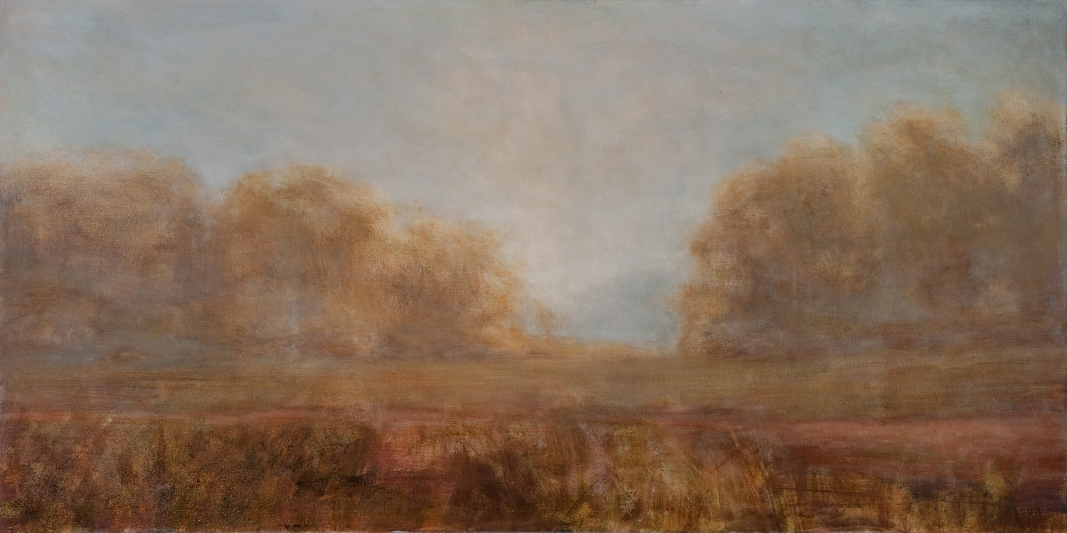 "Dusty Drifting Road, 24""x48"""
