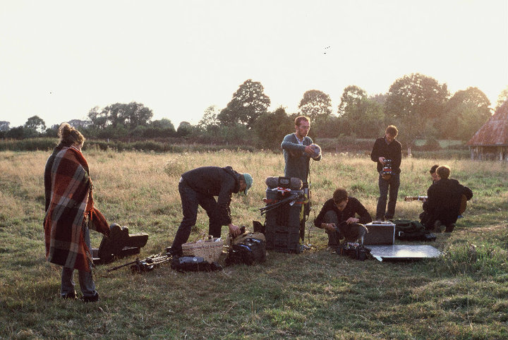 On-set of Julien & Claire in the French countryside.  (All photos by Theodore Maniatis)