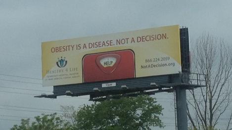 I saw this billboard along I-94 in southwestern Michigan.