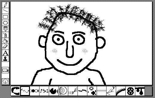 Screen snapshot of the original Kid Pix