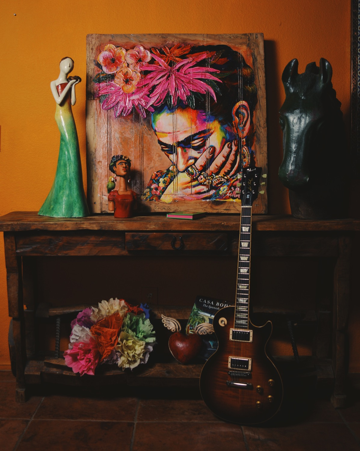 Frida Kahlo and rustic vintage furnishings from The Salvage Co.jpg