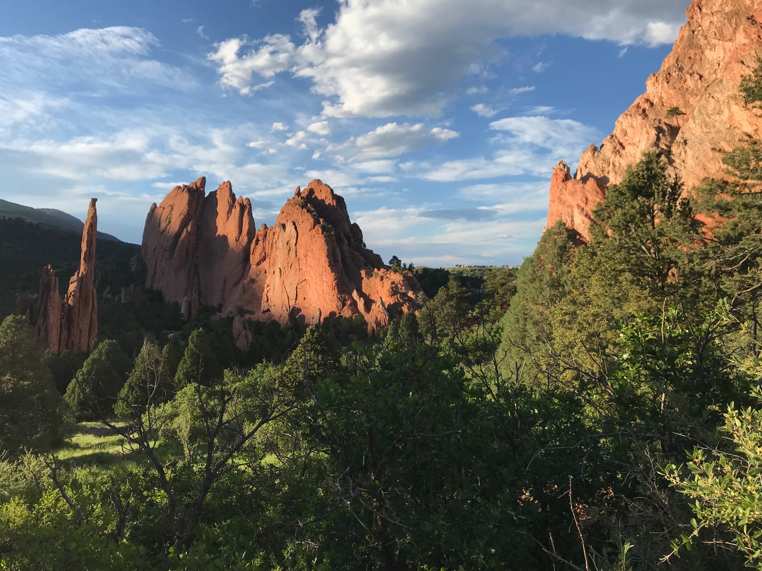 Majestic views of Garden of the Gods Park.