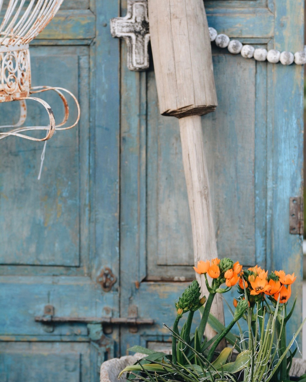Blue Egyptian Doors from The Salvage Co.