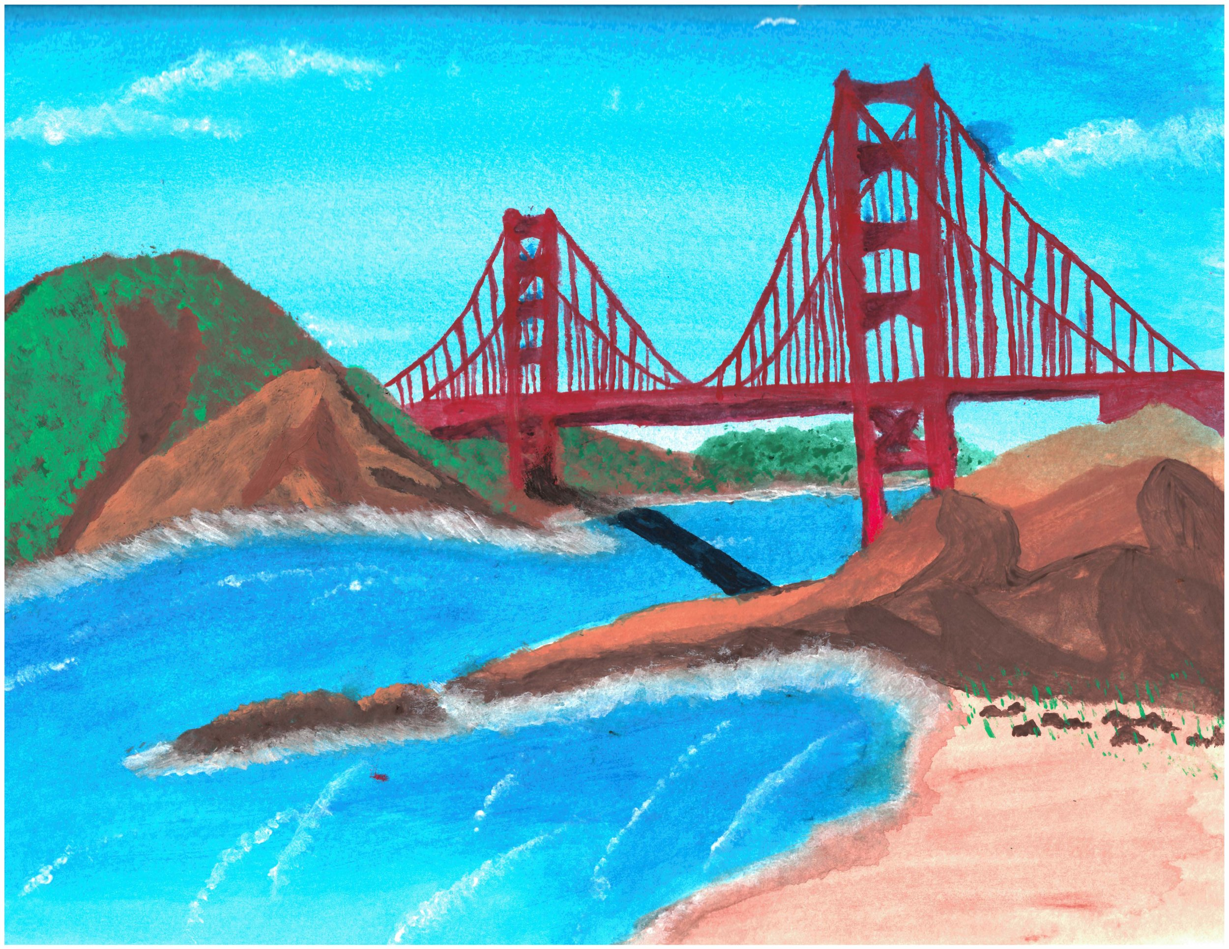 Overall winner, 'The Golden Treasure of San Francisco', by Antonio N. age 14