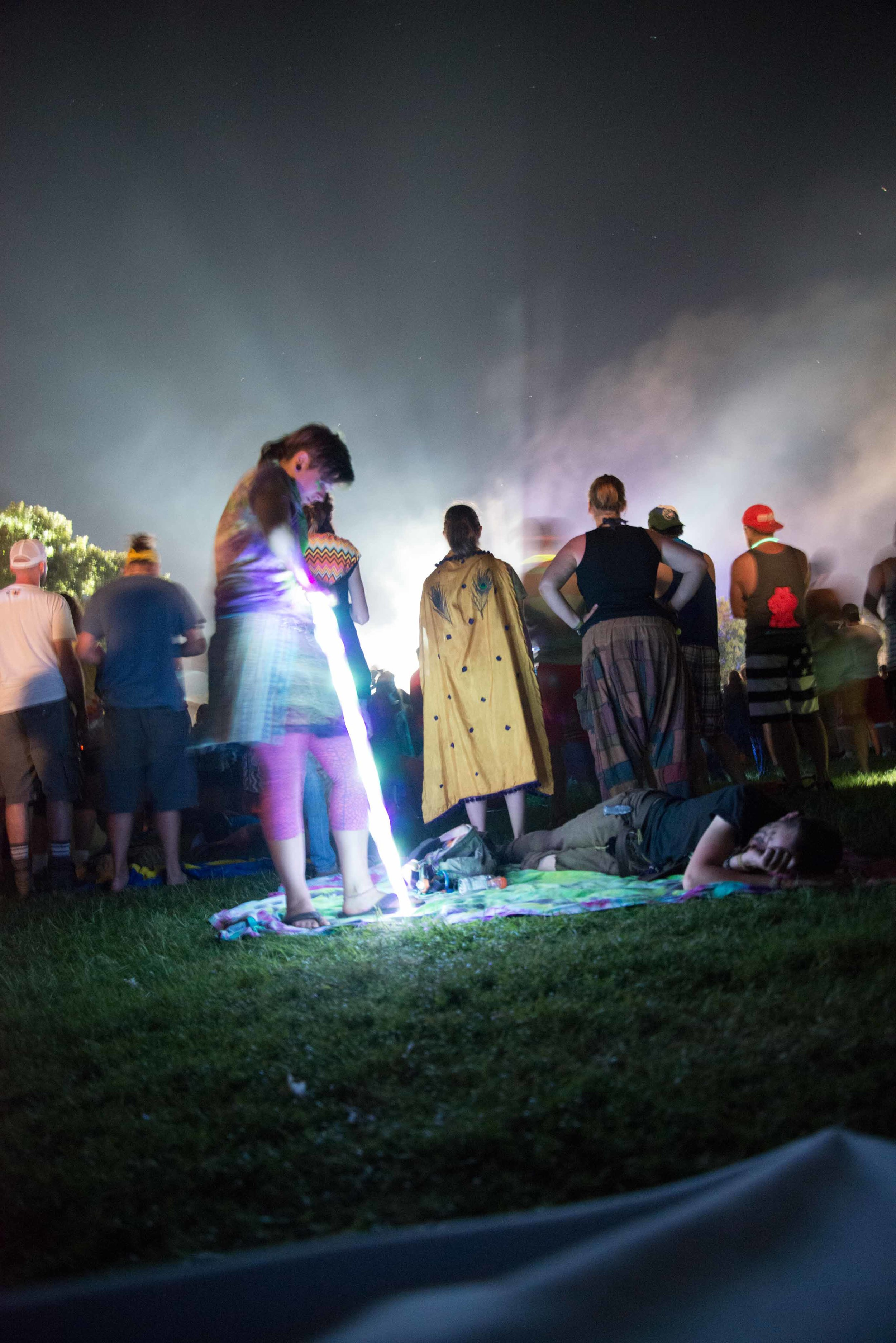 Sometimes, crazy things happen at Bonnaroo.  Such as people pulling light from the ground.