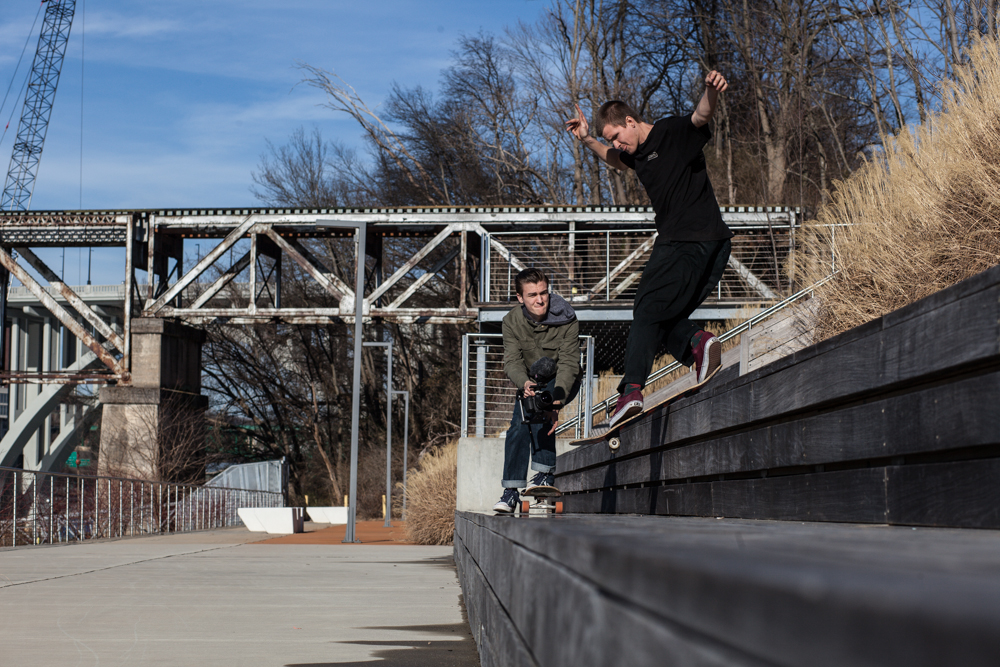 Hartman Austin- Powerslide to backside lipslide  knoxville, Tennessee  Photography: R.J. Hess