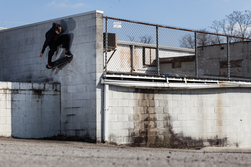 Hartman Austin: Wallride Nollie  Knoxville, Tennessee  Photography: R.J. Hess